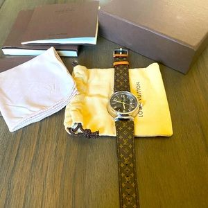 Authentic Louis Vuitton Tombour Watch
